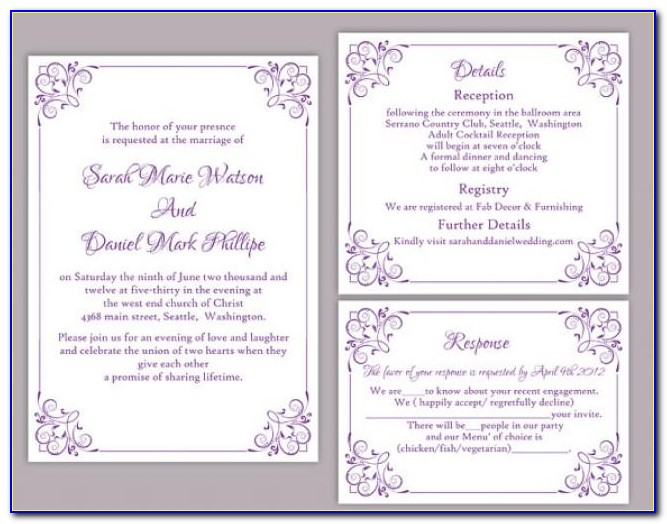 Editable Wedding Invitation Templates Free Download Indian