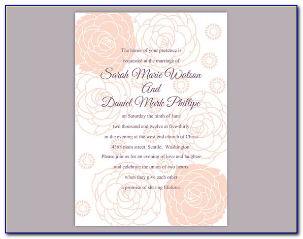 Editable Wedding Invitation Templates Free Download Psd