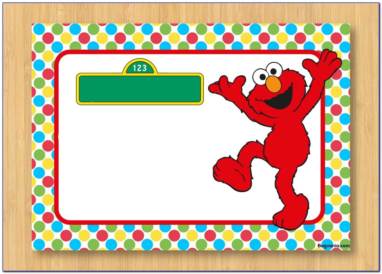 Elmo Birthday Card Template