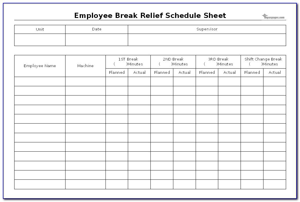 Employee Lunch Break Template