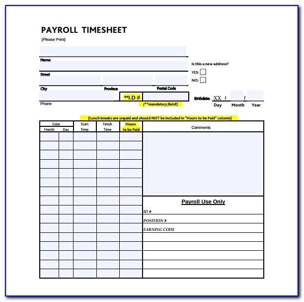 Employee Timesheet Template Google Sheets