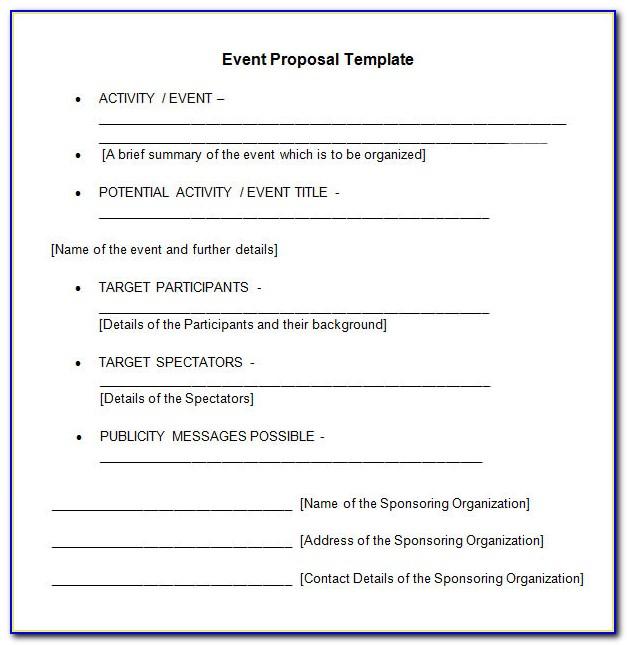 Event Management Business Proposal Template