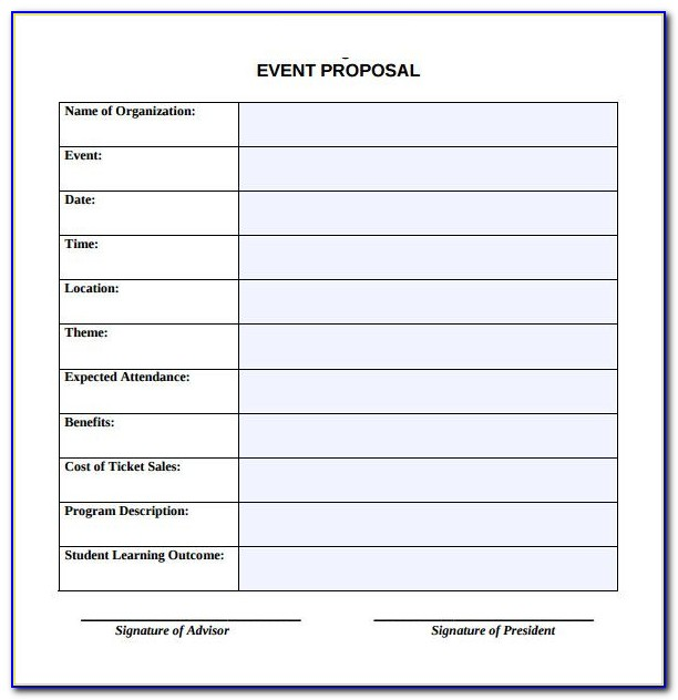 Event Management Contract Proposal Template