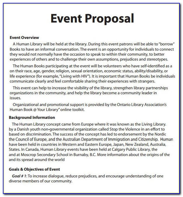 Event Management Cost Proposal Template