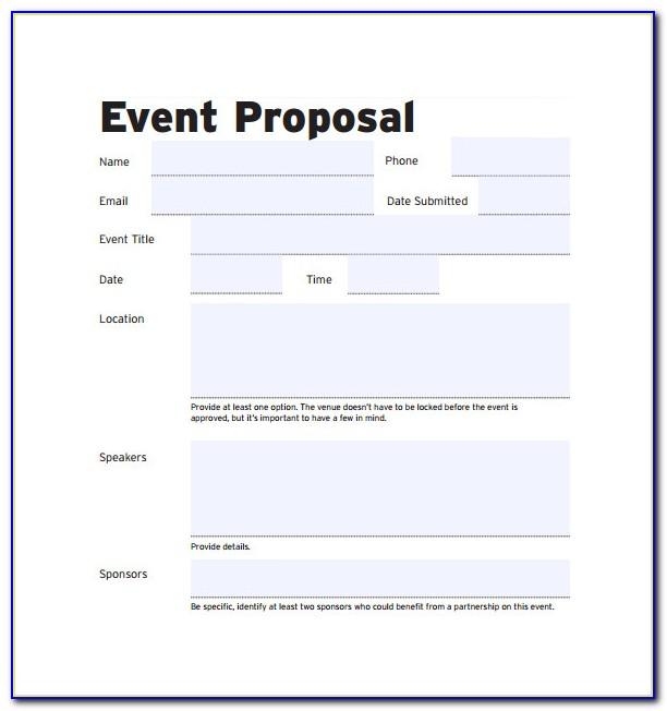 Event Management Proposal Template Doc