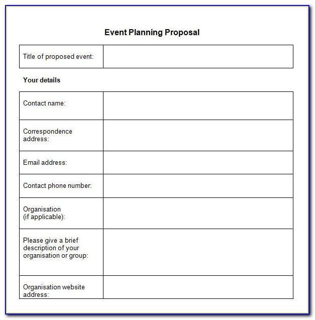 Event Management Proposal Template Pdf