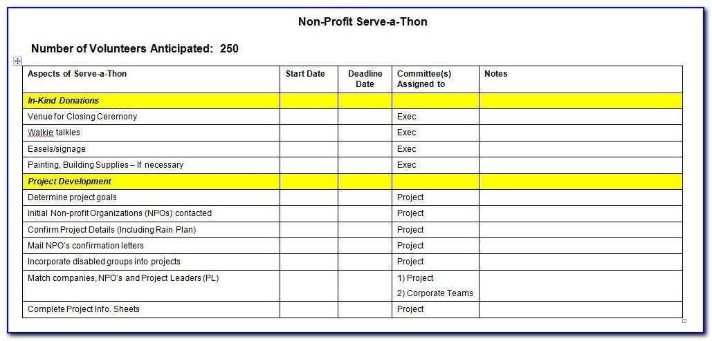 Event Planning Checklist Format