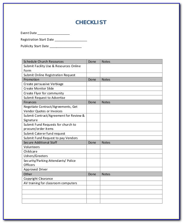 Event Checklist Template 12 Free Word Excel Pdf Documents Event Planning Checklist Template Free