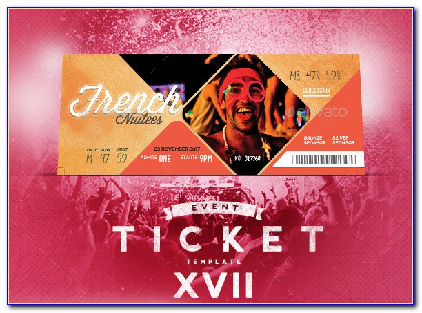 Event Ticket Template Free