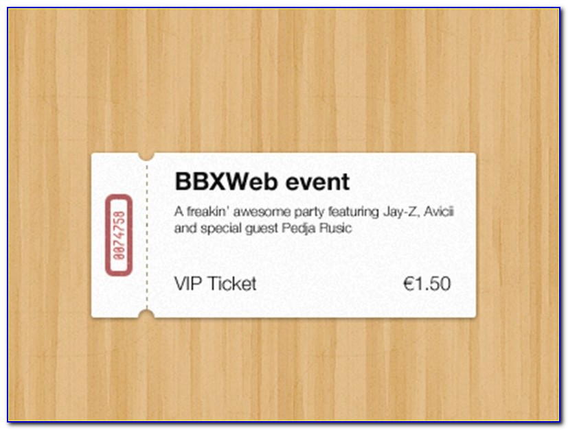 Event Ticket Template Psd