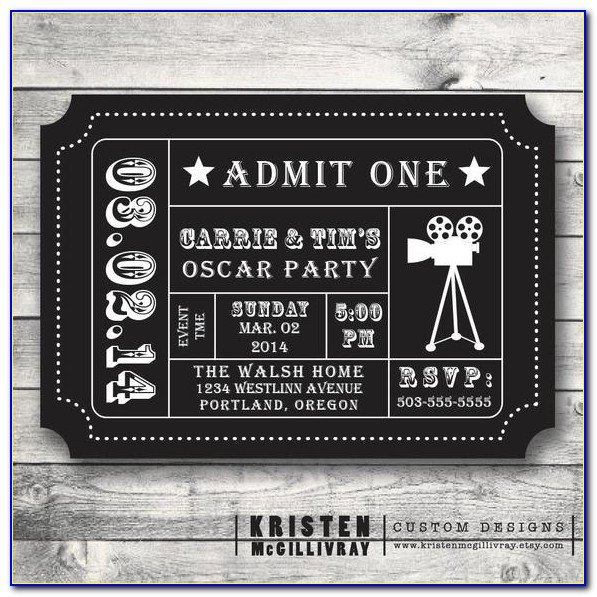 Event Ticket With Stub Template Free