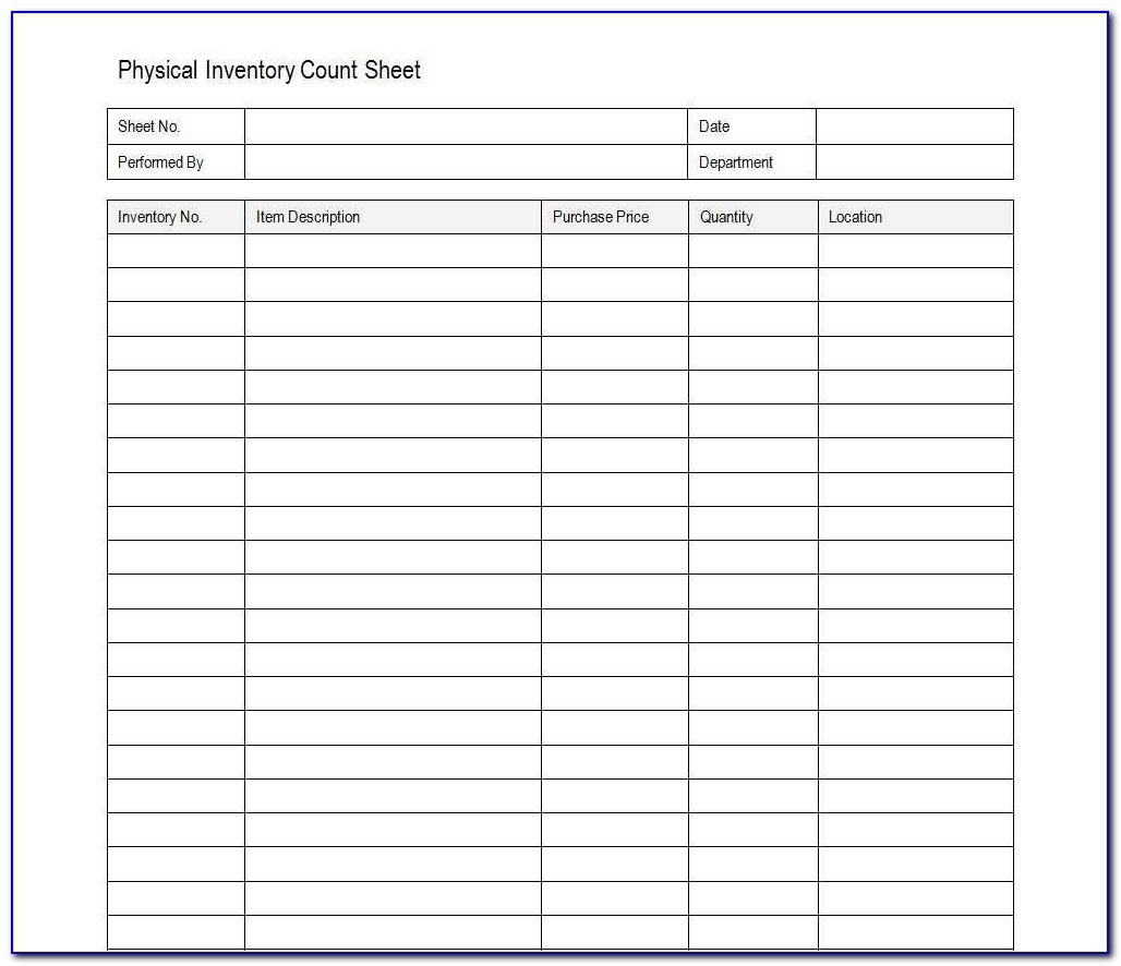 Excel Inventory Template With Formulas Free
