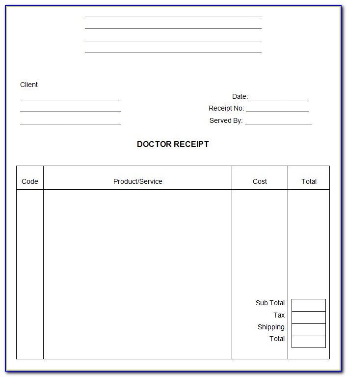 Eye Doctor Invoice Template