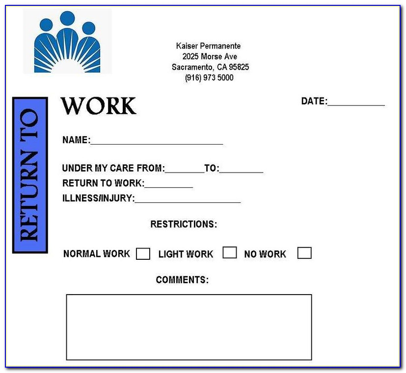 Fake Doctors Note Template Free