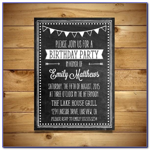 First Birthday Invitation Templates Word