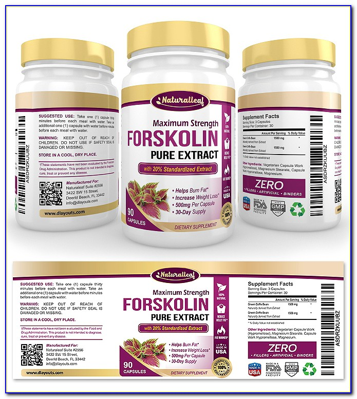 Food Supplement Label Template