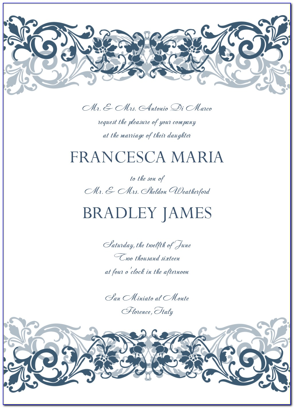Formal Invitation Template Letter