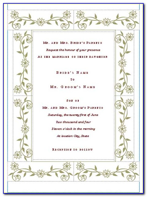 Formal Wedding Invitation Email Template