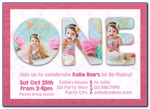 Free 1st Birthday Invitation Card Maker