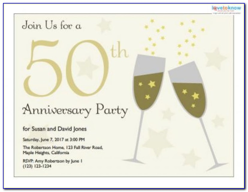 Free 50th Anniversary Invitation Templates 16 Wedding Anniversary