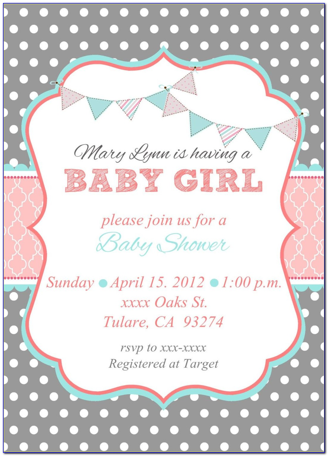 Free Baby Shower Invitation Templates For Whatsapp