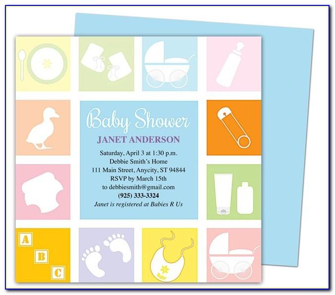 Free Baby Shower Invitation Templates Pinterest