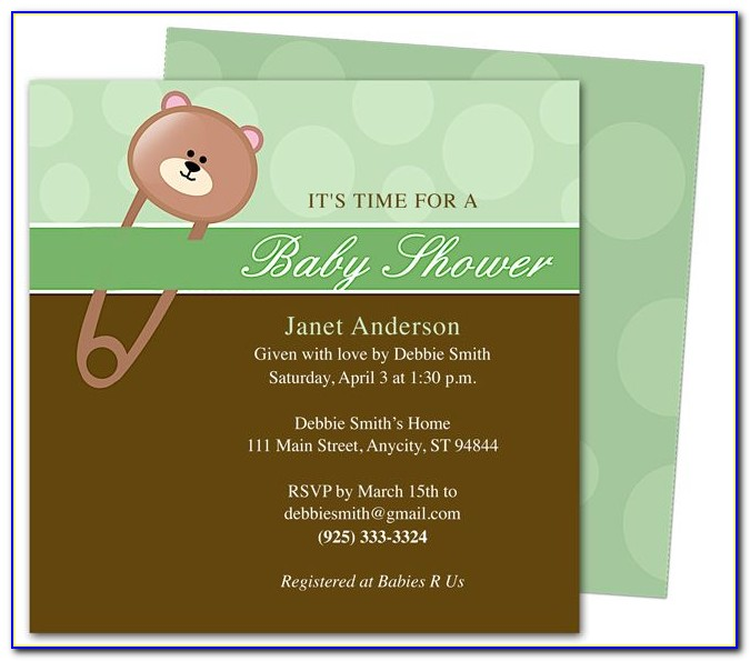 Free Baby Shower Invitation Templates With Photo