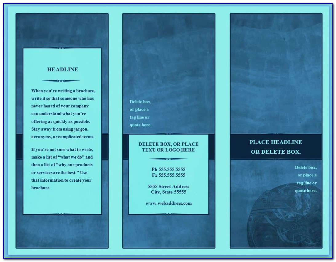 Free Bifold Brochure Template For Word