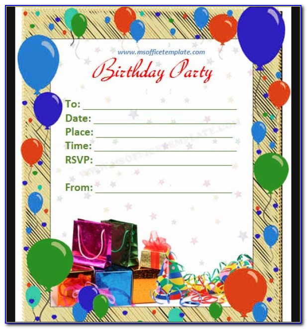 Free Birthday Invitation Templates For Girl
