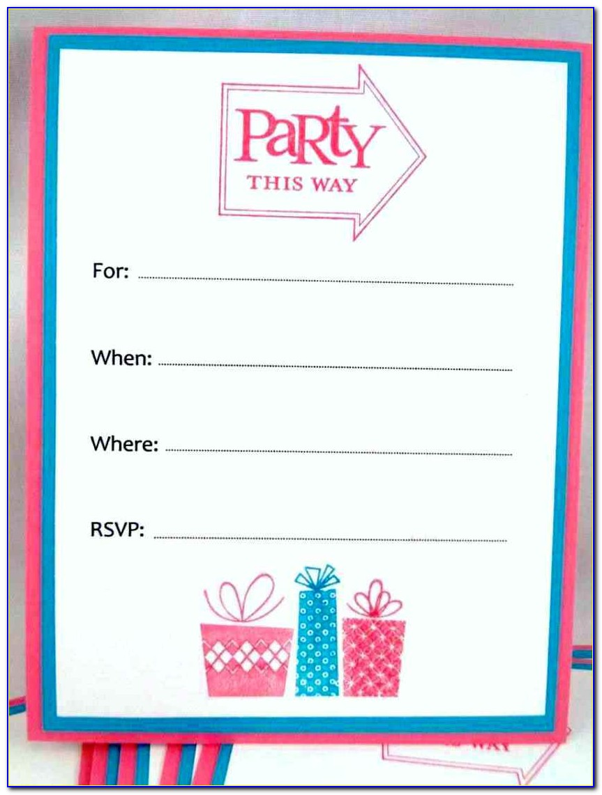 Free Birthday Party Invitation Templates Word