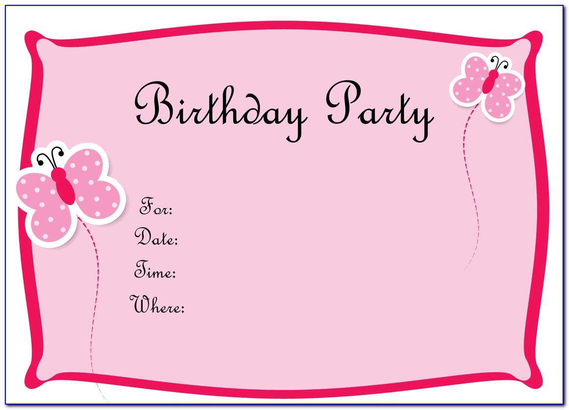 Free Blank Birthday Invitation Templates