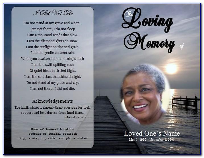 Free Blank Funeral Program Template Word