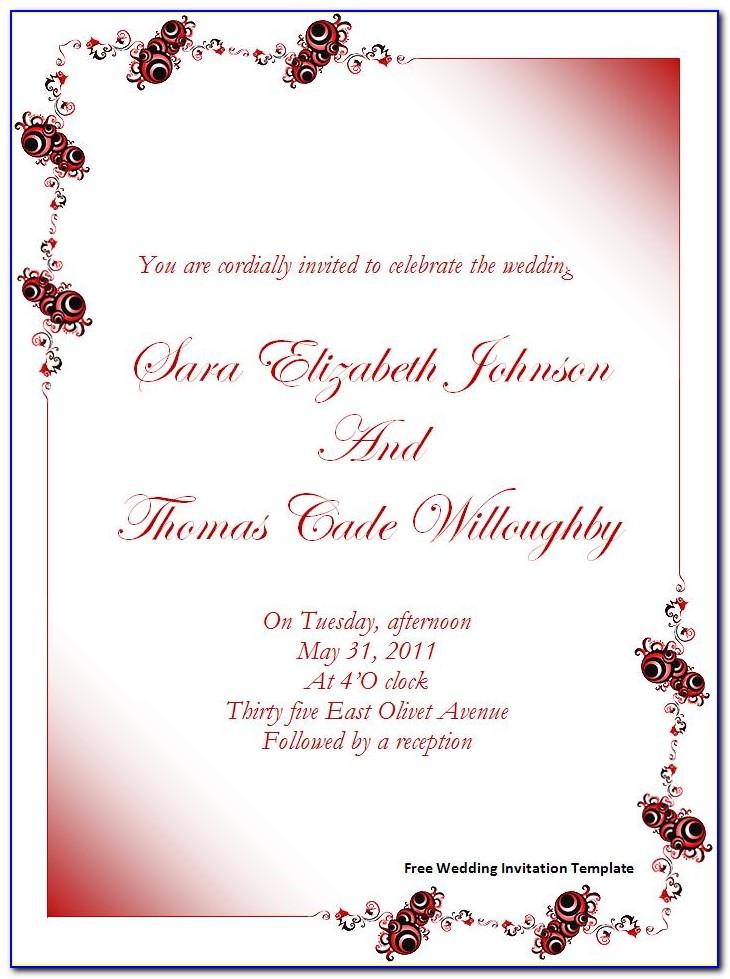 Free Blank Invitation Templates Printables