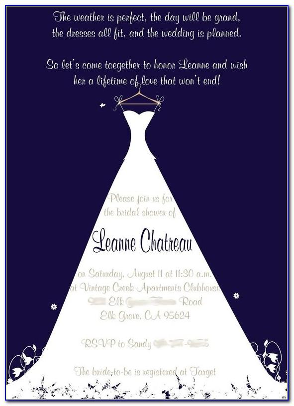 Free Bridal Shower Invitation Template