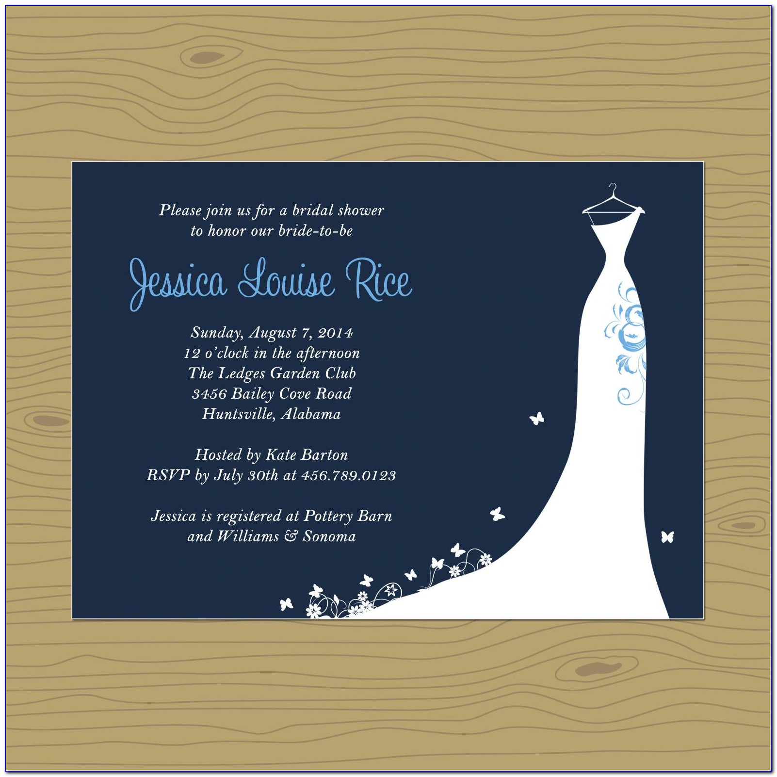 Free Bridal Shower Invitation Templates To Print