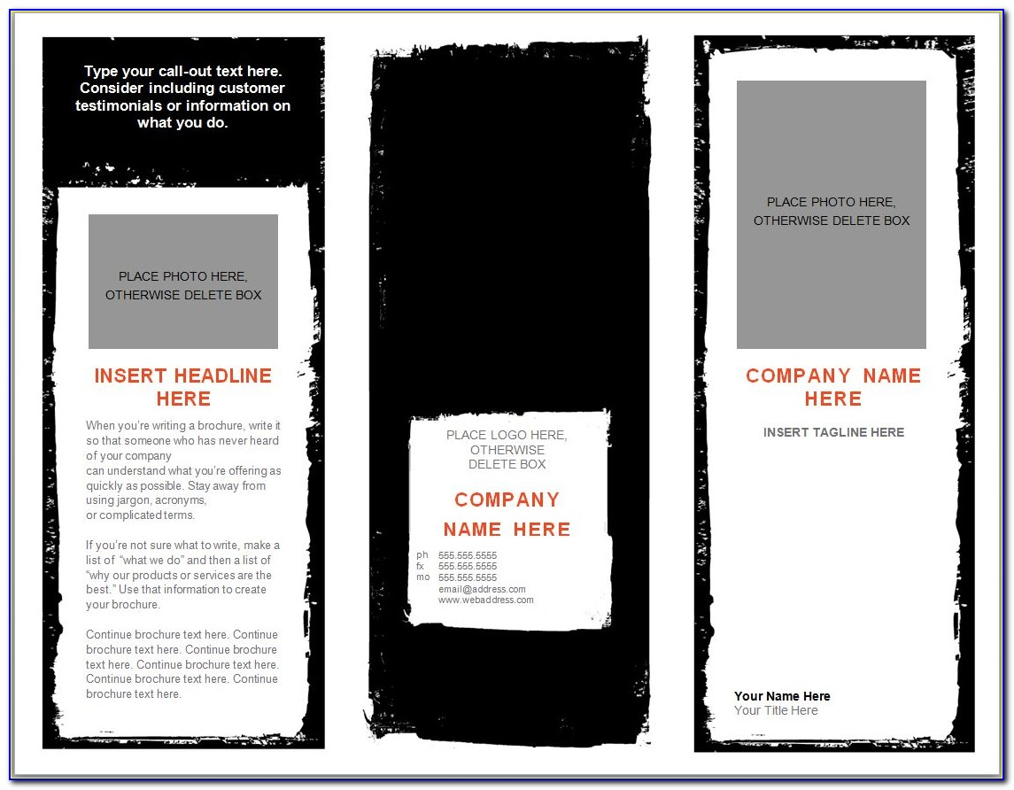 Free Brochure Template For Microsoft Word