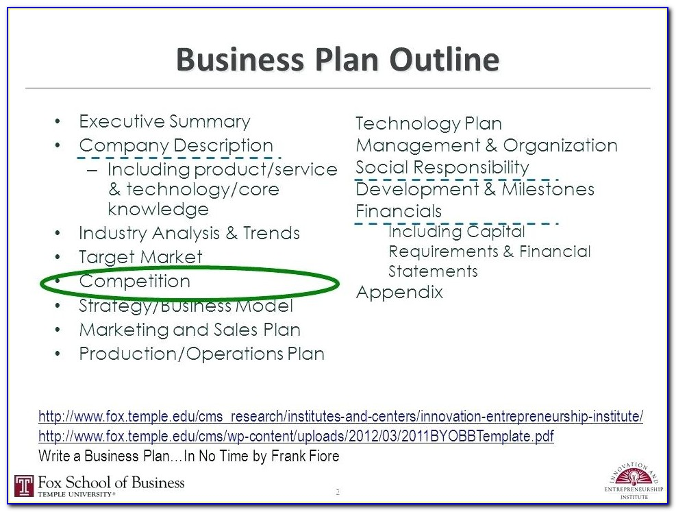 Free Business Plan Template For Video Production Company