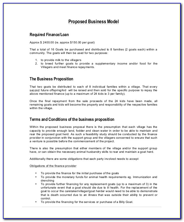 Free Business Proposal Template Download