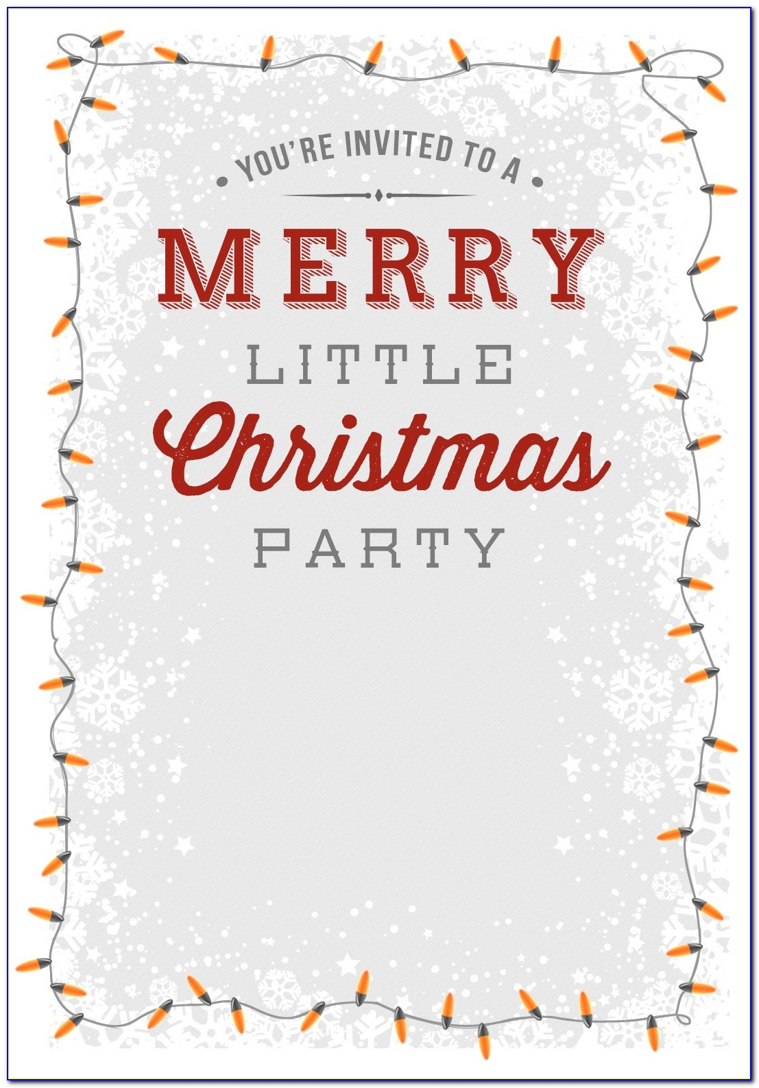 Free Christmas Invite Templates