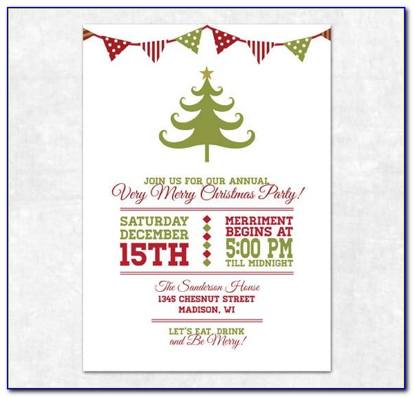 Free Christmas Party Invitation Template Photoshop