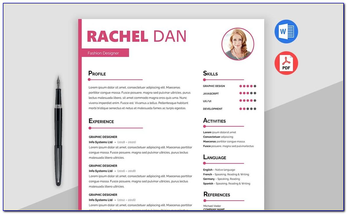 Free Creative Resume Templates Indesign