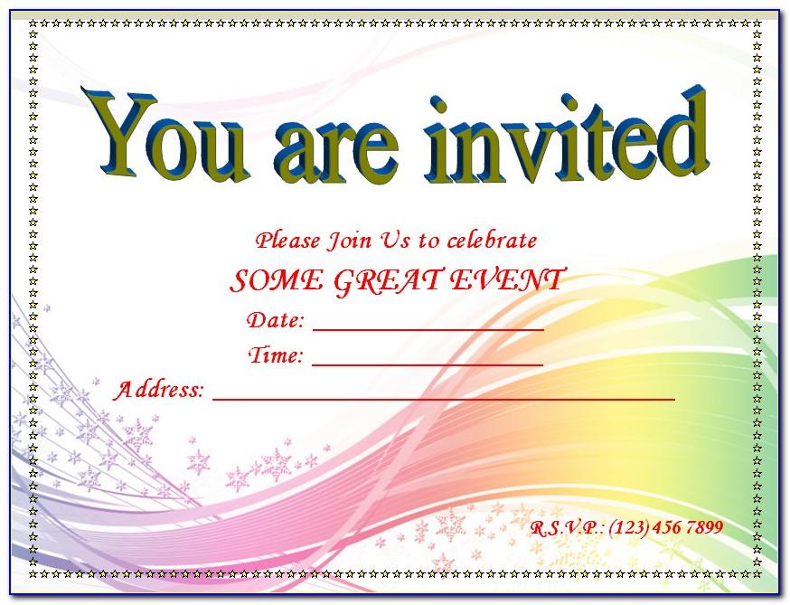 Free Download Blank Invitation Templates