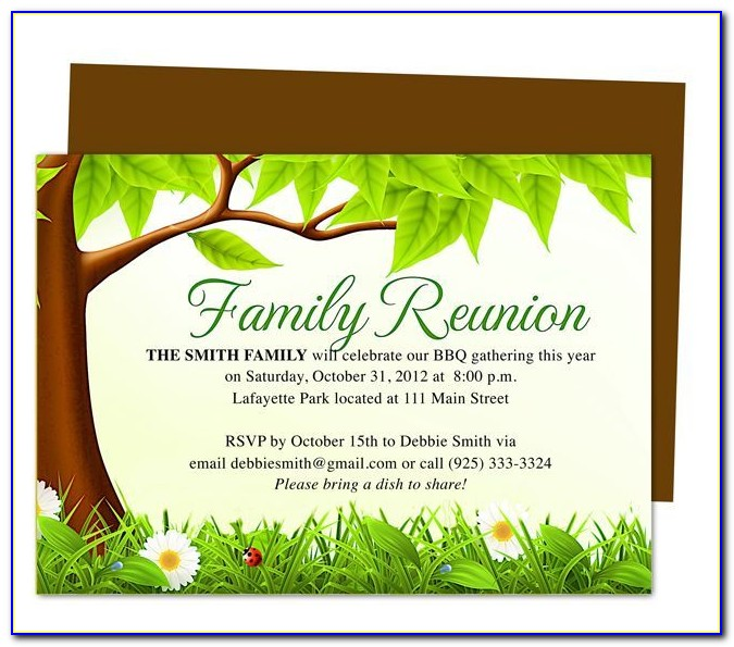 Free Downloadable Family Reunion Flyer Templates