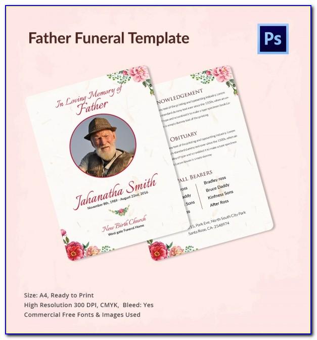 Free Editable Funeral Program Template Uk