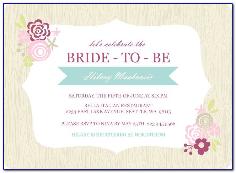Free Email Bridal Shower Invitation Templates