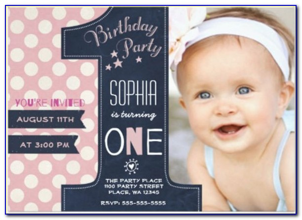 Free First Birthday Invitation Template