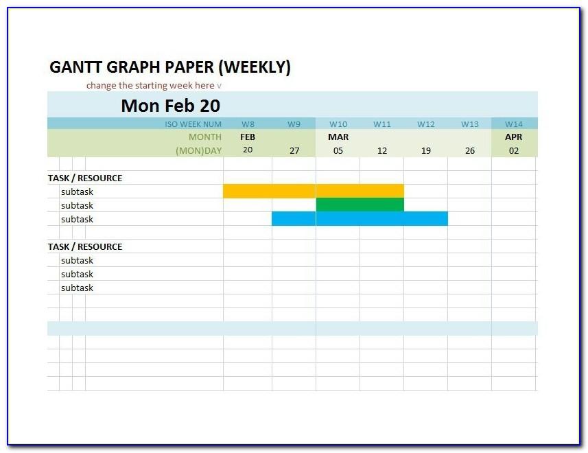 Free Gantt Chart Template Monthly
