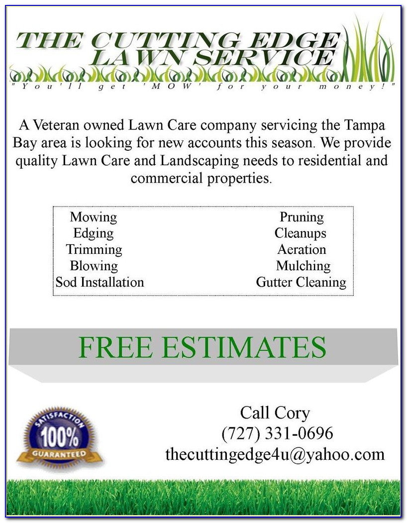 Free Lawn Care Flyer Template For Microsoft Word