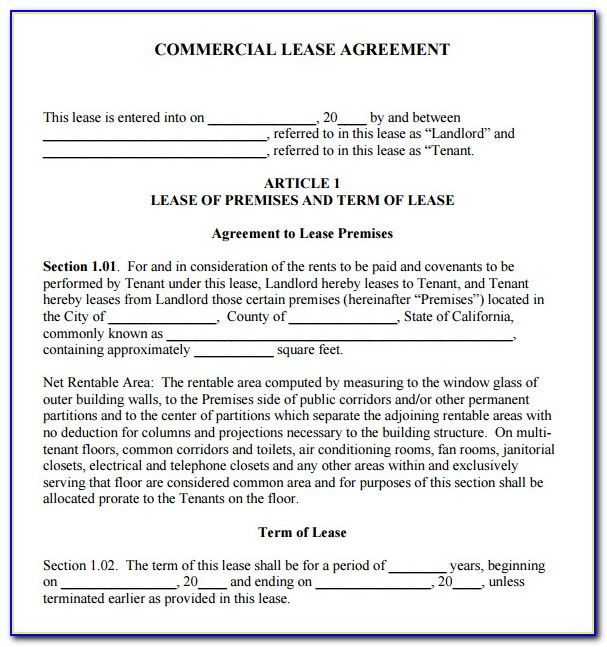 Free Lease Template Ny