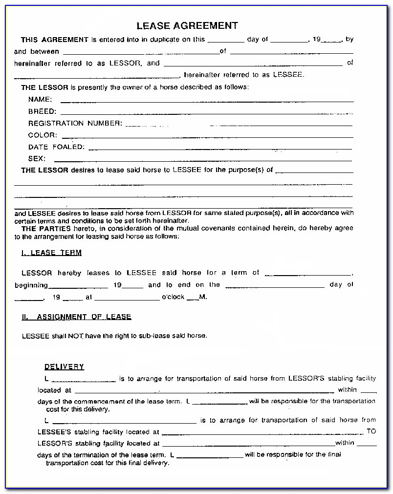 Free Lease Template Pa